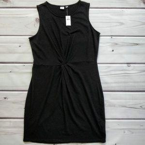 Gap Twist Front Black Dress